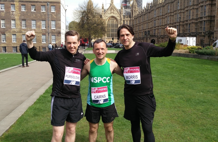 Tom and MPs running the London Marathon