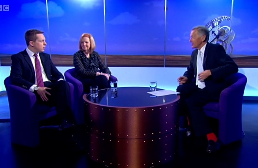 Tom on BBC East Sunday Politics